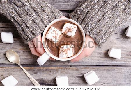 少女 · カップ · ホットチョコレート · 画像 · 女性 - ストックフォト © MilosBekic
