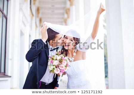 肖像 · 小さな · 花嫁 · 結婚 · ブライダル · 若い女性 - ストックフォト © tobkatrina