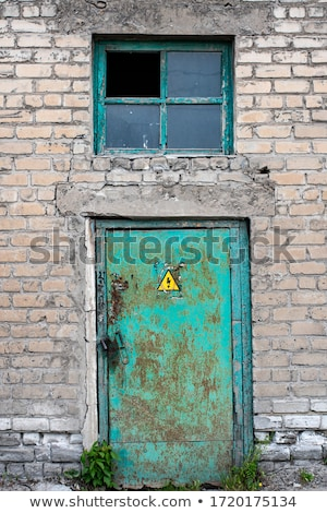 Old rusty metal door Stock photo © njnightsky