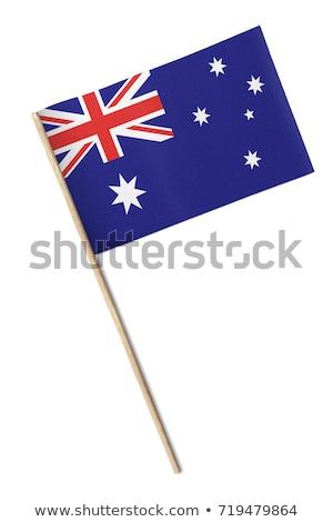 миниатюрный флаг Австралия изолированный заседание Сток-фото © bosphorus