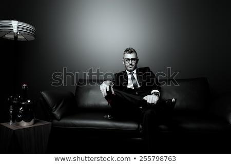 Hommes d'affaires gangster cinquième suspendu style homme Photo stock © nicemonkey