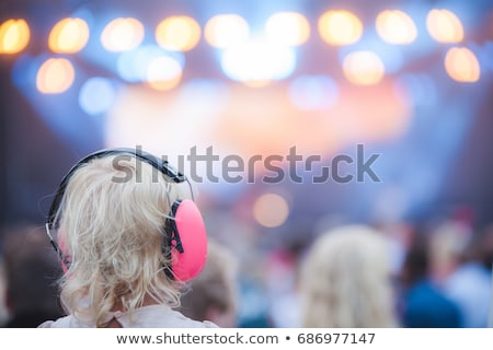 young child with ear protection Stock photo © gewoldi