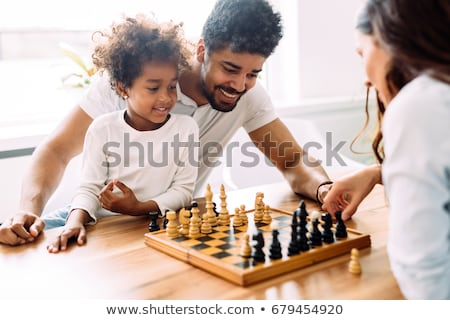 Set of chess figures on the playing board Stock photo © ryhor