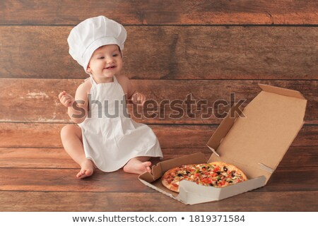 Little boy dressed as pizza chef Stock photo © photography33