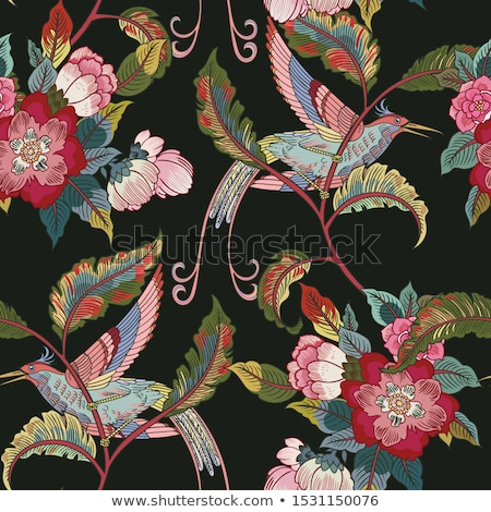 Colorful birds seamless pattern Stock photo © Sylverarts