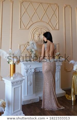 стиль · красоту · девушки · позируют · студию · ретро-стиле - Сток-фото © gromovataya