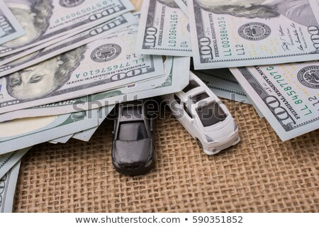 Bankjegy autó modell autók bankjegyek izolált Stock fotó © a2bb5s