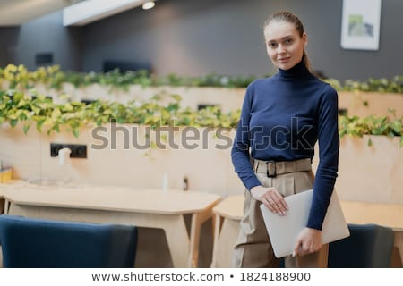 Young woman completing her homework Stock photo © photography33
