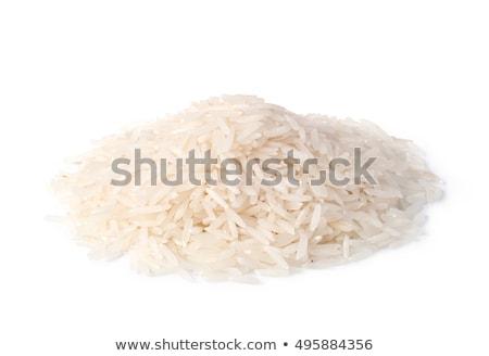 басмати риса изолированный белый Сток-фото © leeavison