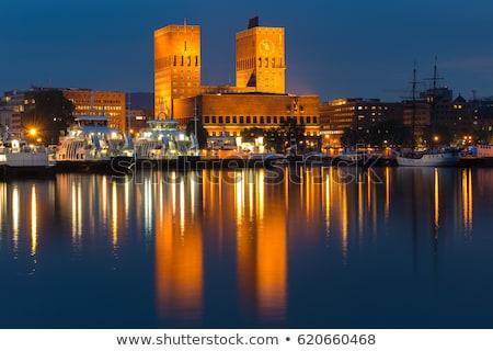 オスロ 市 ホール ノルウェー 建物 世界 ストックフォト © vichie81