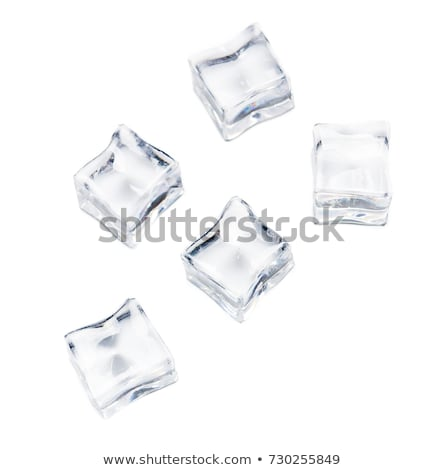Group ice cubes isolated Stock photo © Givaga