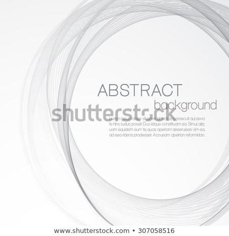 Biały błyszczący kółko wektora ściany szkła Zdjęcia stock © gubh83
