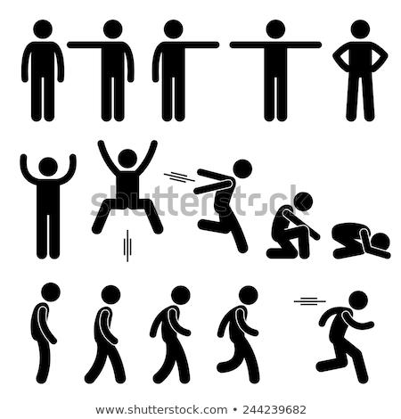 action pose stick figure stock photo © cteconsulting