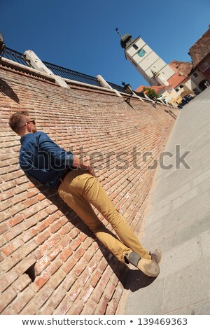 casual man posing  in Sibiu Stock photo © feedough