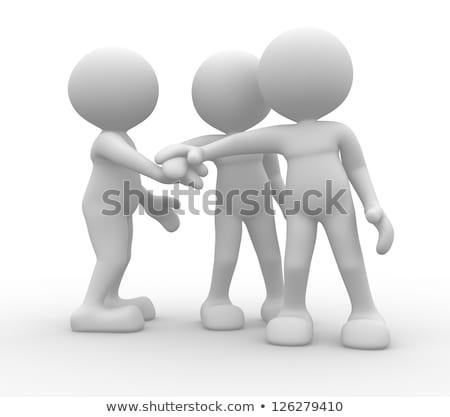 3d person greeting stock photo © ribah