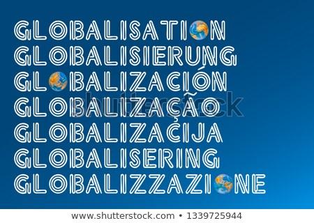 strategy word sphere in spanish stock photo © kbuntu
