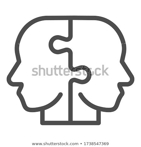 головоломки · лице · изображение · красивой · головоломки - Сток-фото © iko