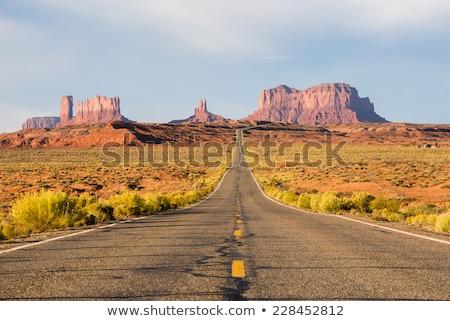 on the road in desert in utah stock photo © capturelight