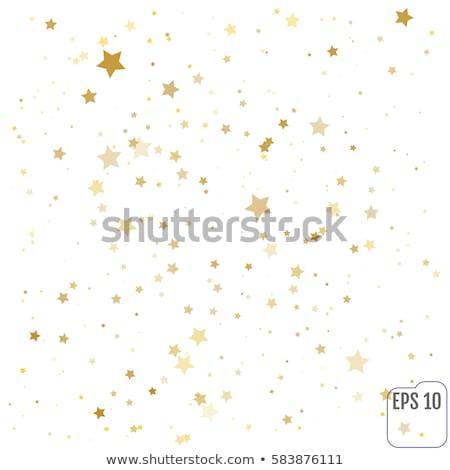 Konfetti csillagok piros fehér kék szalagok Stock fotó © MKucova