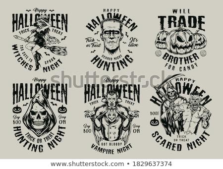 zombie pumpkin sign stock photo © lightsource