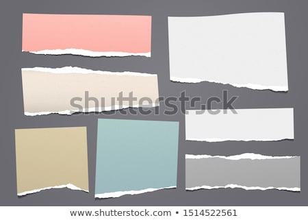 Rózsaszín levélpapír izolált fehér háttér jegyzet Stock fotó © smuay