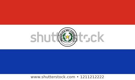 Banderą Paragwaj piłka nożna zespołu kraju Zdjęcia stock © MikhailMishchenko
