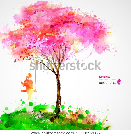 Girl dreaming on a tree in a park Stock photo © Kzenon