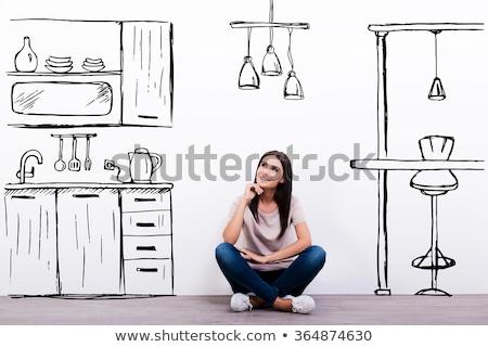 nouvellement · résidentiel · maison · modernes · coutume · maison - photo stock © kzenon