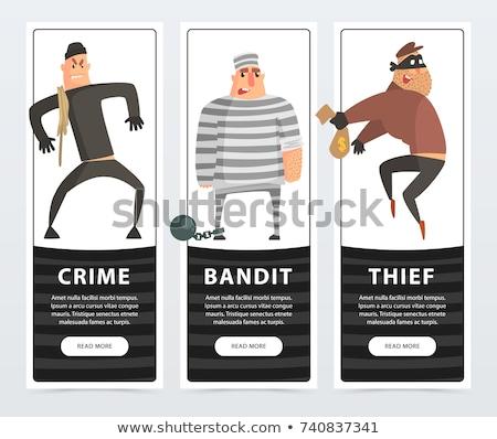 Stockfoto: Crimineel · gestreept · uniform · recht · politie
