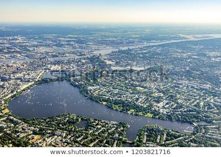 антенна Гамбург Германия бизнеса дома город Сток-фото © meinzahn