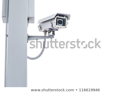 камеры безопасности Blue Sky кабельное телевидение технологий фон синий Сток-фото © meinzahn