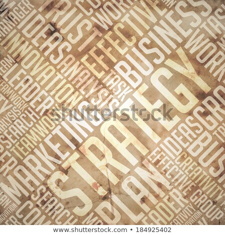 Strategy - Grunge Beige-Brown Wordcloud. Stock photo © tashatuvango