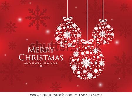 Rosso gingillo ornamenti Natale ornamento Foto d'archivio © REDPIXEL