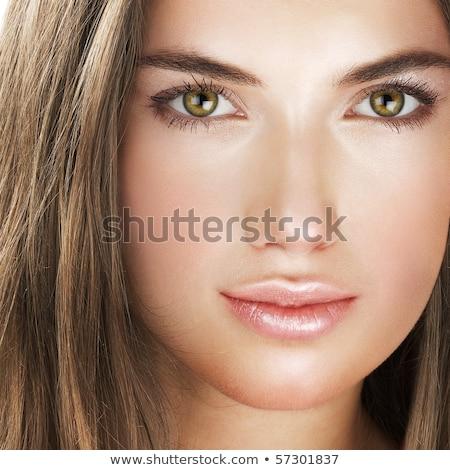Aantrekkelijk elegante meisje bruine ogen mooie brunette Stockfoto © racoolstudio