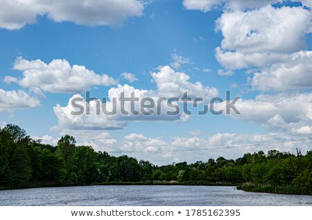white clouds on the blue sky over the lake Stock photo © Hochwander