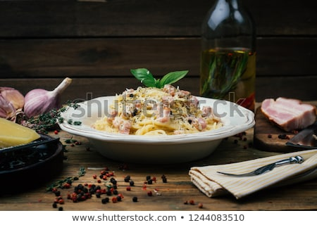спагетти · итальянская · кухня · продовольствие · ресторан · таблице - Сток-фото © punsayaporn