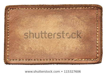 Stockfoto: Blank Leather Label Tag
