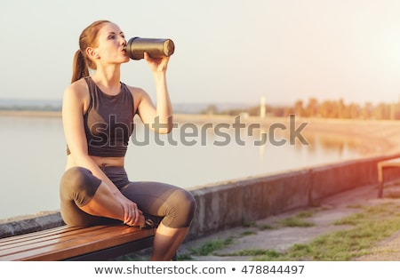Proteína Shake botella aislado Foto stock © restyler