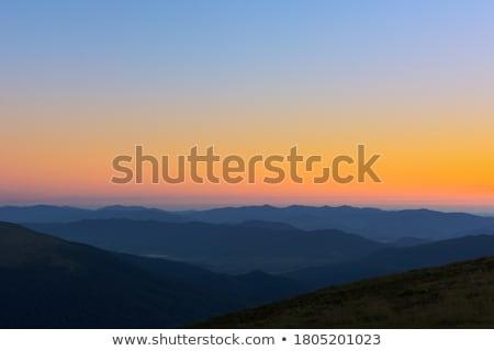 Wieczór mgły Hill jesienią wygaśnięcia czech Zdjęcia stock © ondrej83