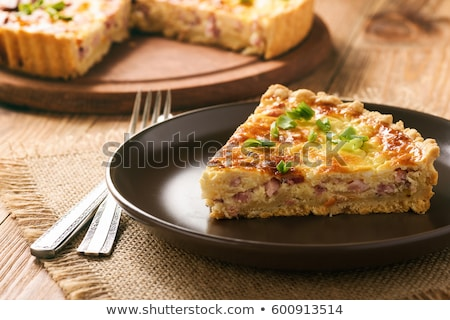 pastry with cheese and ham stock photo © m-studio