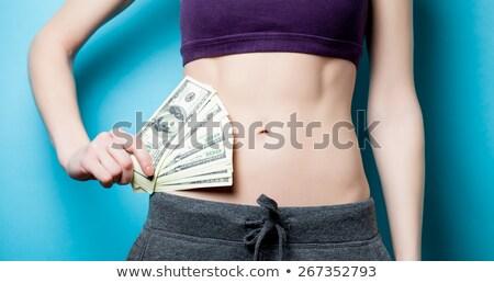 Genç kadın uygun vücut 100 Stok fotoğraf © Cursedsenses
