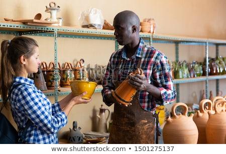 Kunst Tansania Holz Frauen Reise Afrika Stock foto © moizhusein