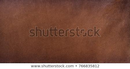 Leder textuur donkere bruin kan Stockfoto © IvicaNS