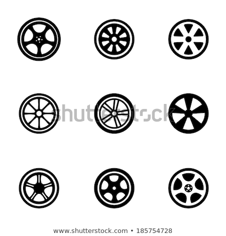 Aleación rueda establecer aislado blanco primer plano Foto stock © ozaiachin
