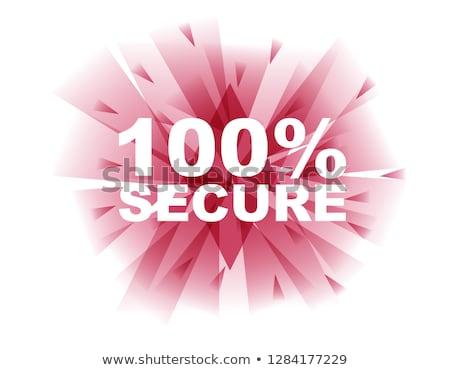 безопасного сделка красный вектора икона кнопки Сток-фото © rizwanali3d
