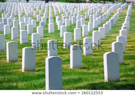 militar · cementerio · bandera · de · Estados · Unidos · guerra · bandera · muertos - foto stock © lunamarina