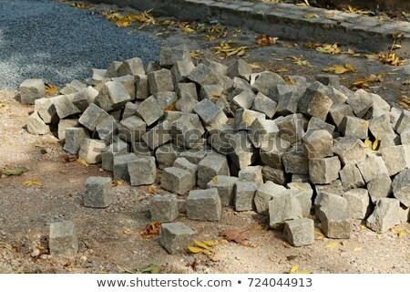 фон · рок · кирпичных · камней · тротуар - Сток-фото © premiere