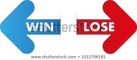 выиграть терять Стрелки стороны рисунок белый Сток-фото © ivelin