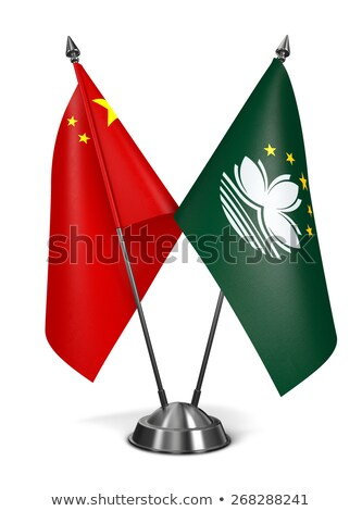 China and Macau - Miniature Flags. Stock photo © tashatuvango