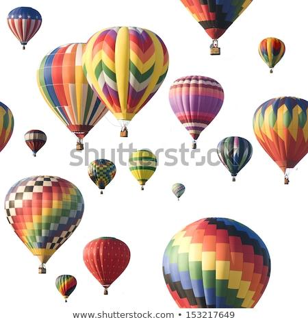 Stock photo: Hot Air Balloon Against White
